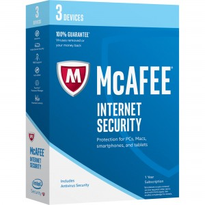 McAfee Internet Security NL 3 devices 1 jaar