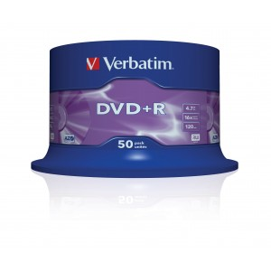 Verbatim DVD+R 16x 4.7GB Spindle 50-Pack