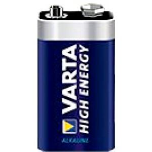 Varta High Energy 9V Block Wegwerpbatterij Alkaline
