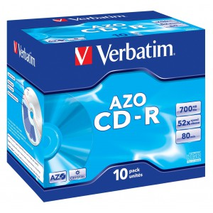 Verbatim CD-R 80min/700MB Jewelcase 10-Pack