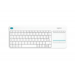 Logitech Wireless Touch Keyboard K400 Plus White