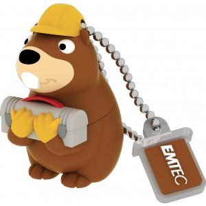 Emtec M338 Building Beaver 8 GB USB