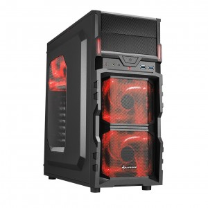 Sharkoon VG5-W Gamer Red no PSU