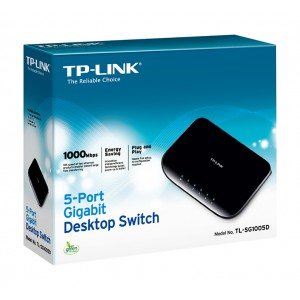 TP-Link TL-SG1005D 5-Poorts 10/100/1000 Mbit Netwerkswitch