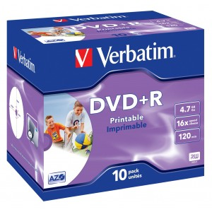 Verbatim DVD+R 16x 4.7GB Printable 10-Pack