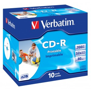 Verbatim CD-R 80min/700MB Printable 10-Pack